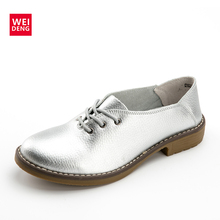 Weideng Пояса из натуральной кожи Женские туфли-лодочки повседневная обувь Кружево до Мокасины Sapatos femininos модные sapatilhas femininos sapatilha