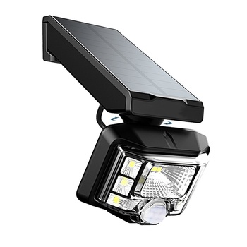 Ip658 PIR Motion Sensor Solar Outdoor Lights Adjustable Angle for Garden Wall and yard Security