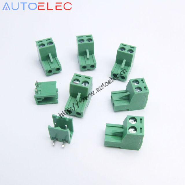 10 Set 5.08mm Pitch 2 Pins PCB Electrical Screw Terminal Block ...