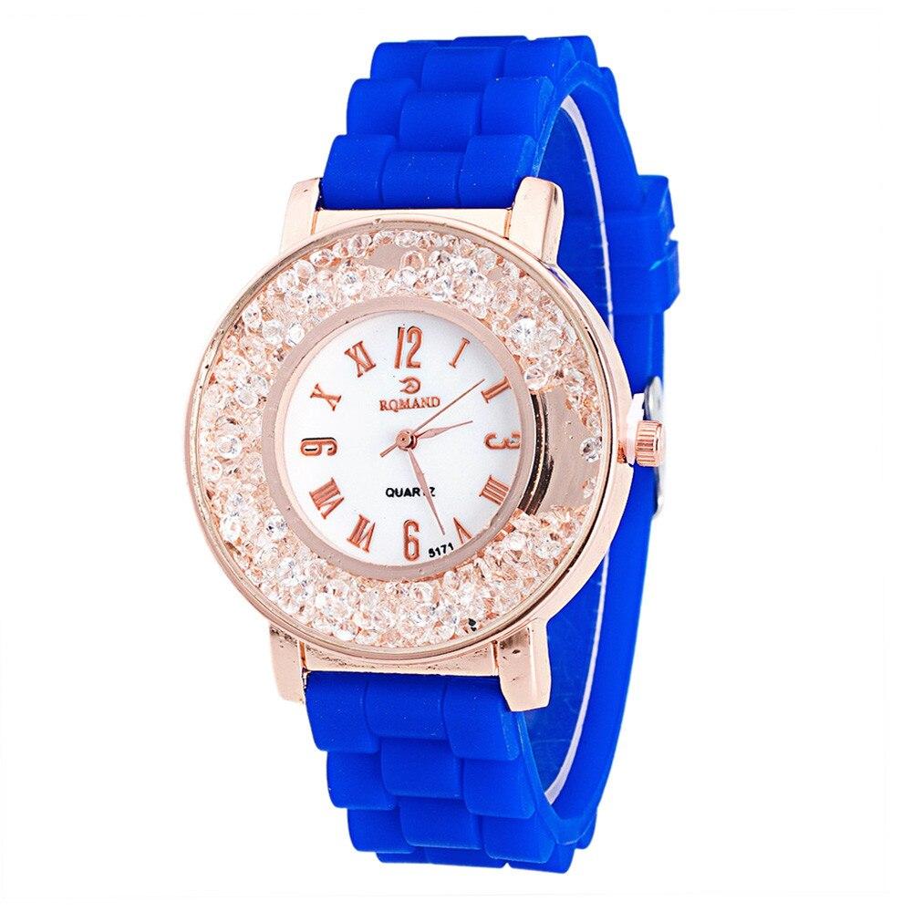 Ladies Women Watch Quicksilver Small Diamond Rhinesto