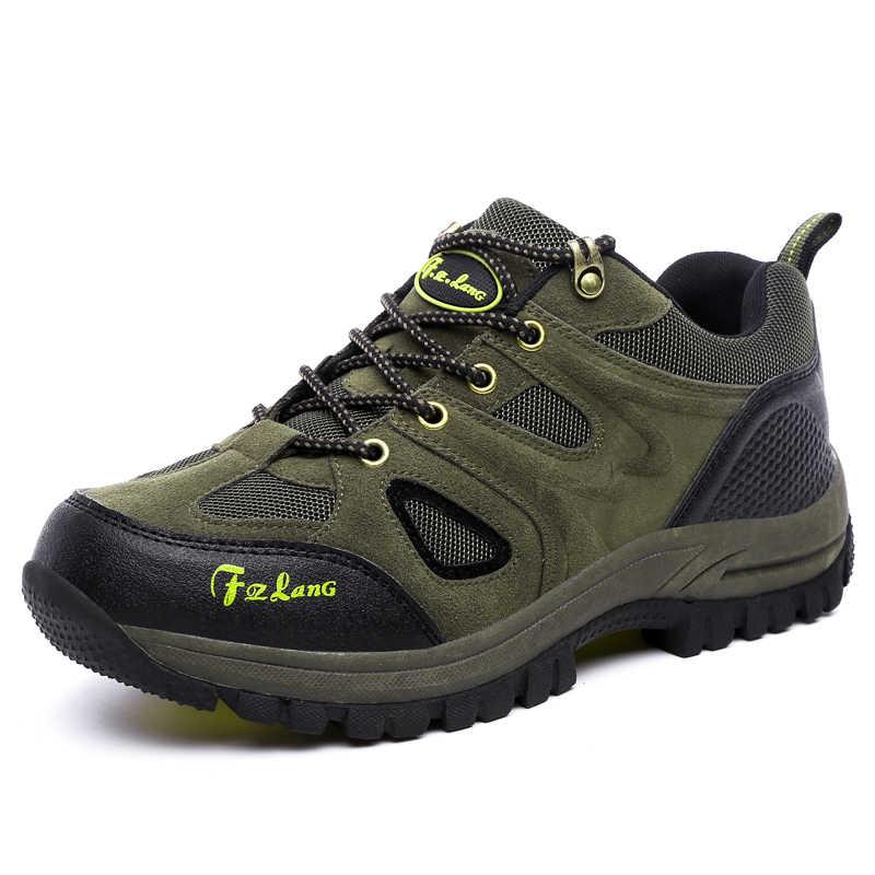 2019 хит, мужская и женская уличная походная обувь, большие размеры 36 ~ 48, коричневый/армейский зеленый/серый цвета, износостойкие кроссовки для альпинизма