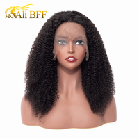 Lace Front Human Hair Wigs For Black Women Brazilian Remy Hair Afro Kinky Curly Lace wigs With Baby Hair Bleached Knots Hair