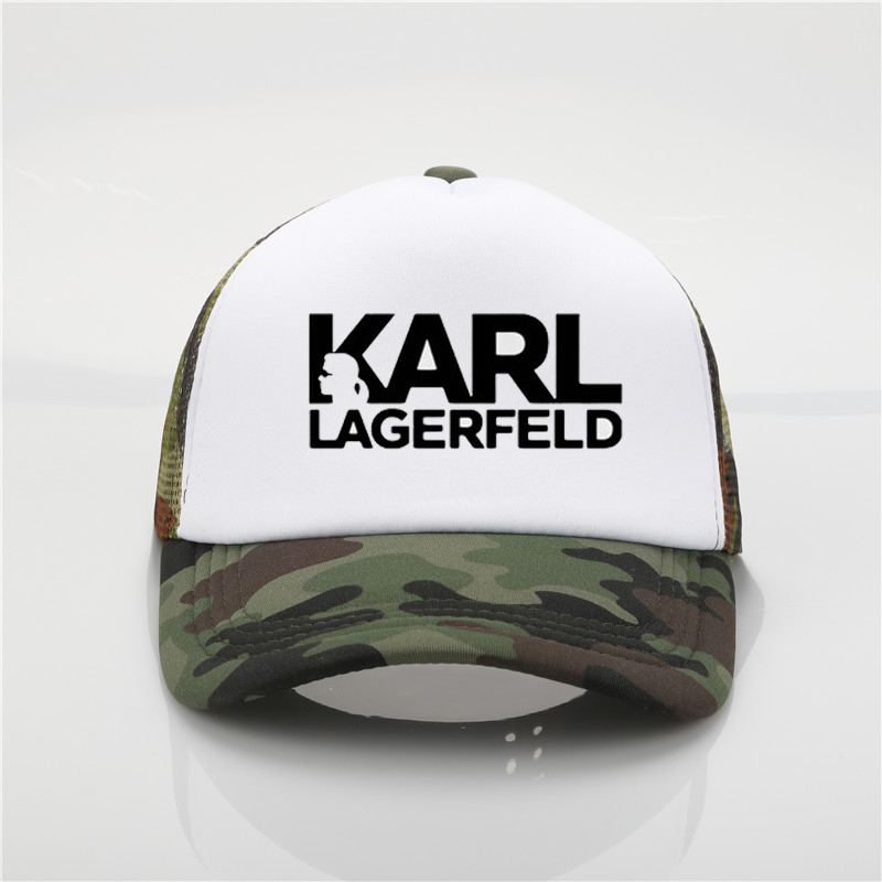 Vogue Style Karl Lagerfeld Printing   baseball     cap   Women/men white Cotton   cap   Harajuku Top couple Summer Trend   Cap   Beach Visor hat