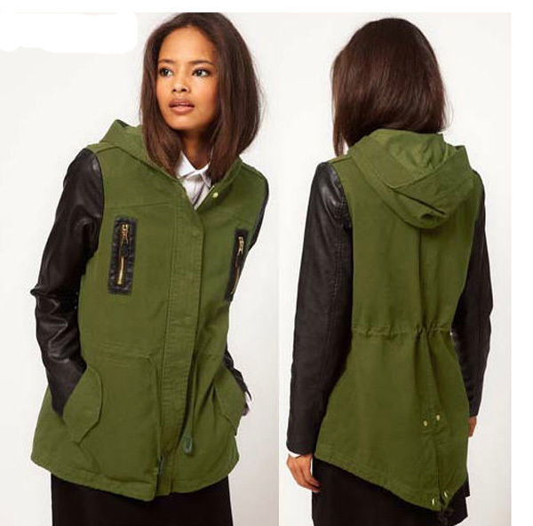 Popular Leather Sleeve Parka-Buy Cheap Leather Sleeve Parka lots ...