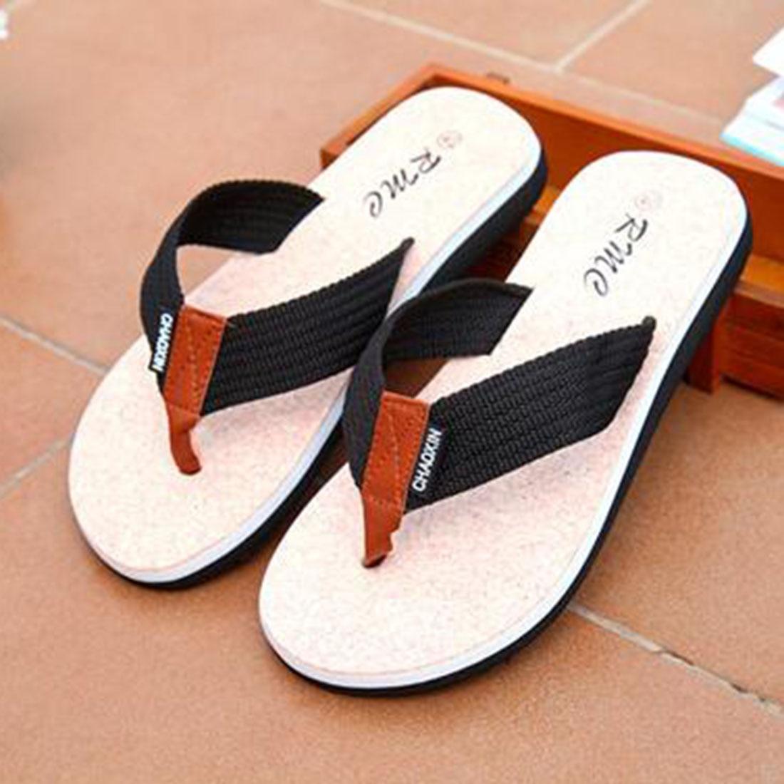Men S Beach Flip Flops Sandals Slipper Casual Shoes