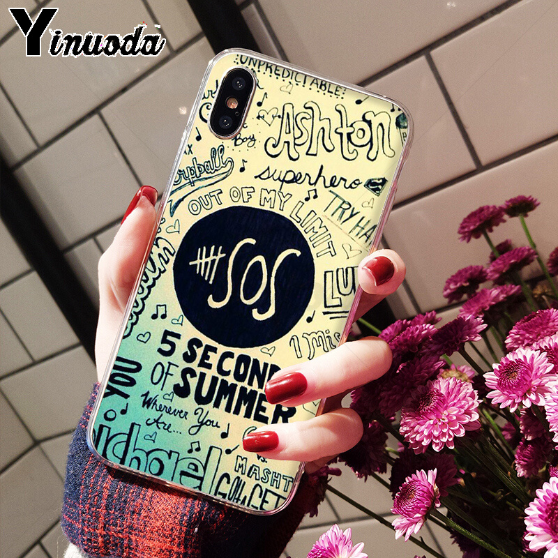 US $0 78 28% OFF|Yinuoda 5Sos band YOUNGBLOOD 5 Seconds of Summer TPU Phone  Case Cover Shell for iPhone 5 5Sx 6 7 7plus 8 8Plus X XS MAX XR-in