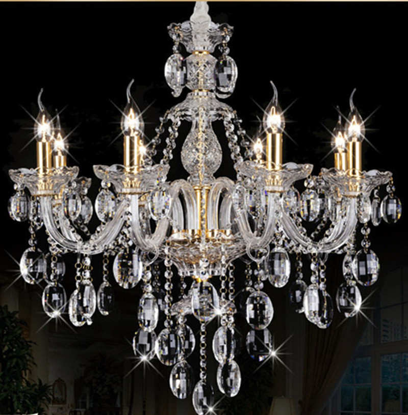 люстра chandelier 6 arm Italy 8-arm home decorative chandelier crystal light  led indoor droplight dining room coffee shop children room chandelier