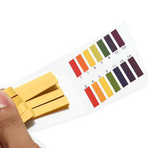 מדהים 80 רצועות PH מבחן רצועת אקווריום בריכת מים בדיקת PH לקמוס נייר מלא טווח אלקליין חומצת 1-14 מבחן נייר לקמוס מבחן
