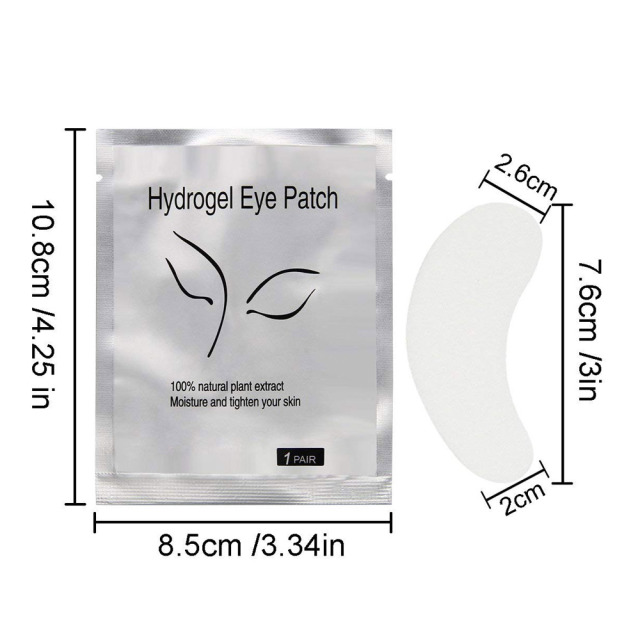 100Pairs Eyelash Extension Eye Pads Pillows Disposable Patches for Eyelashes Under Eyes Tips Lint Free Lash Sticker Wraps Makeup 5