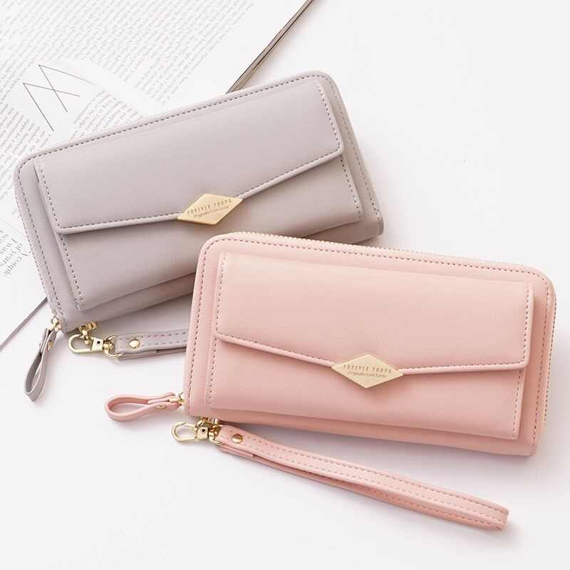 Women Wallets Mobile Phone Bag For iPhone XS Max/Samsung/Huawei/Xiaomi Redmi Multi-functional Clutch Purse PU Leather Bag EEMIA