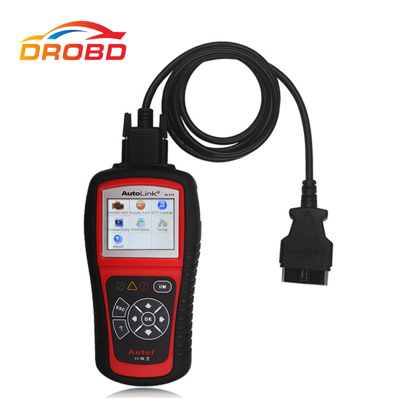 Original Autel Autolink AL519 AL 519 OBD2 Scanner Code Reader Car Diagnostic Automotive Tool Multi-languages free shippinng diy om580 obd scanner automotive obd2 eobd car code reader for engine abs dsc srs fault diagnostic tool