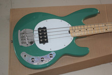Green Music Man Ernie Ball Sting Ray 4 String Electric Bass Guitar with active pickups 9V battery Free Shipping