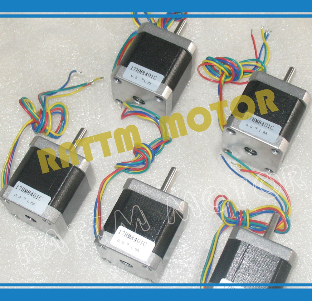 New products!!! 5pcs Nema17 stepper motor 0.9 deg /48mm/ 78 Oz-in / 1.8A CNC stepper motor stepping motor колонка kenwood kfc 1653mrw