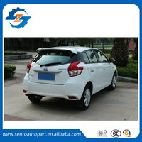 High quality ABS Primer Unpainted Perfect Match Rear Roof Spoiler For Yaris L Hatchback 2014 2015 2016 2017