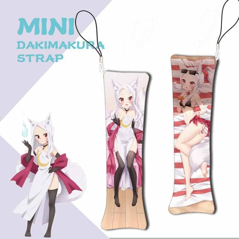 อะนิเมะใหม่ Mini Dakimakura Sewayaki Kitsune no Senko-san พวงกุญแจ Senko Shiro หมอนมินิแขวนตกแต่งโทรศัพท์ 1pcs