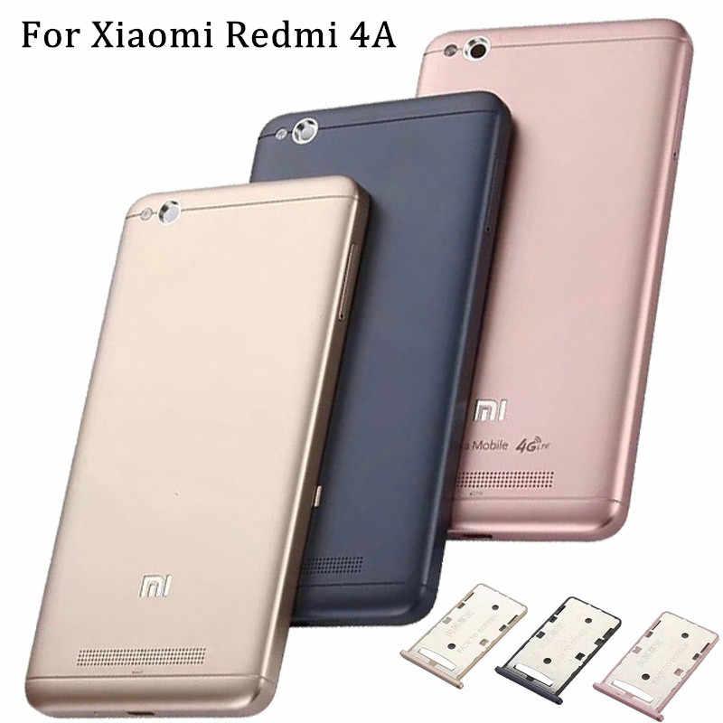 Для Xiaomi Redmi 4A чехол для аккумулятора защитный задний Чехол замена двери Redmi 4 A задний корпус крышка батареи с лотком для sim-карты