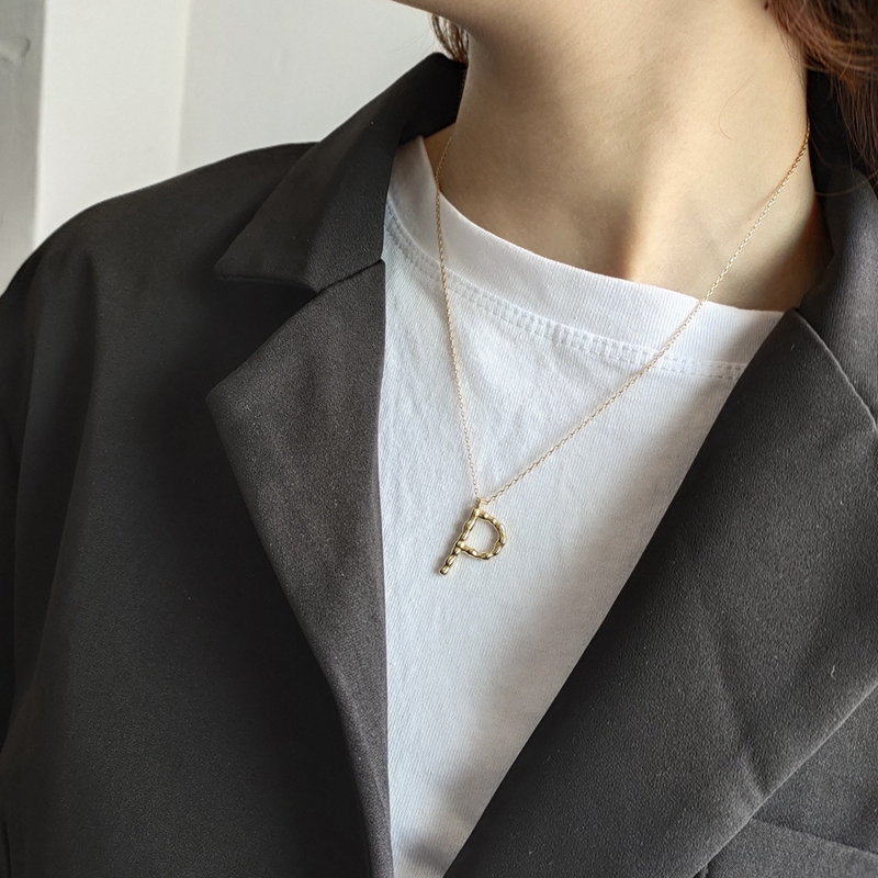 Image 5 - LouLeur 925 sterling silver Irregular English letter necklace Nordic style pendant charm necklace for women friendship jewelry-in Necklaces from Jewelry & Accessories