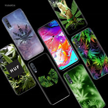 Weed Leaf Grass Huf Case for Samsung Galaxy A50 A70 A80 A60 A40 A30 A20 A10 M40 M30 M20 M10 A6 A8 Plus 2018 TPU Phone Bags Cover(China)