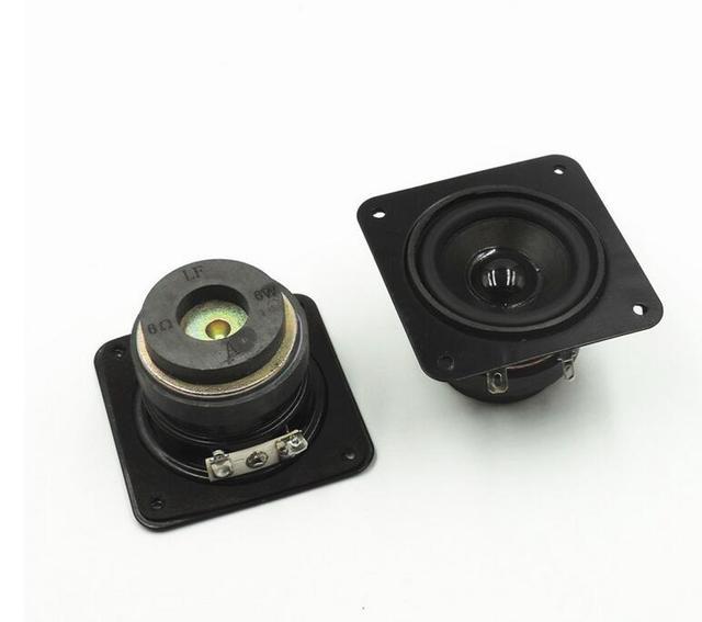US $9 88 |2pcs 50mm Full Range Speaker DIY HIFI Loudspeaker for Car Stereo  Home Theater 6W 6 ohm 2 inch Audio Speakers Double magnetic-in Portable