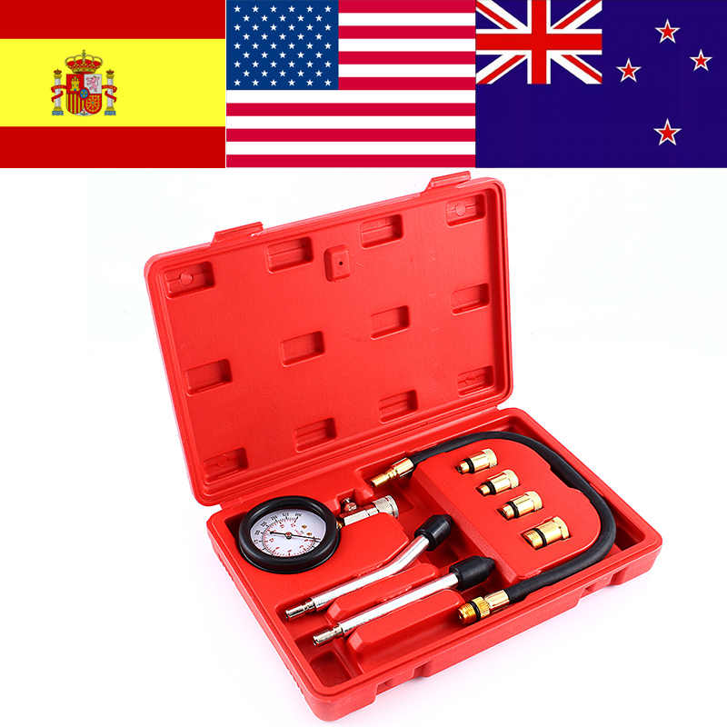 9 en 1 Kit automobile motos manomètre moteur essence testeur de Compression manomètre outils de Test ensemble outil de Diagnostic
