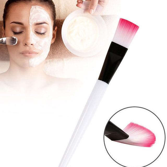 4PCS Profession White Mask Makeup Tool Handle Facial Mud Mask Applicator Make up Eye Shadow Powder Brush