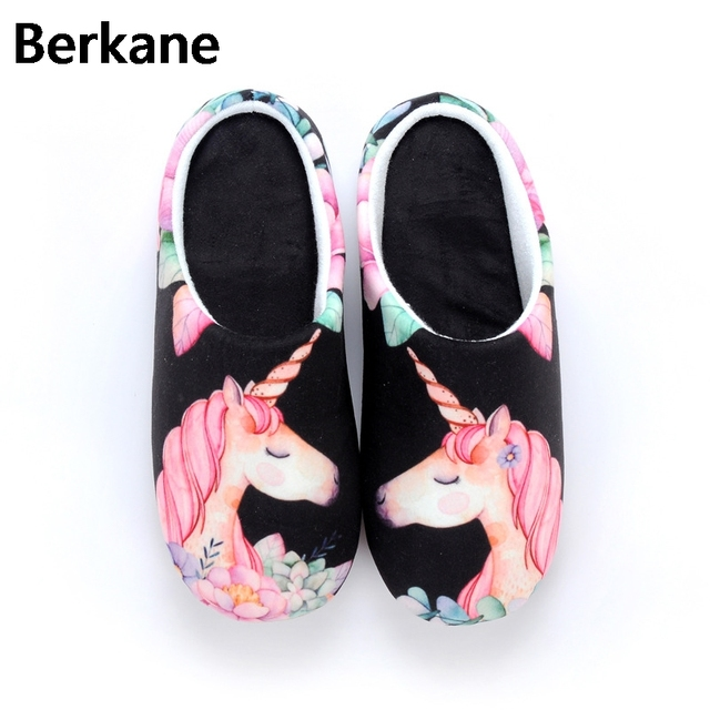 377979979bd Unicorn Slippers Adult Cartton Funny Plush Warm for Women Home Indoor Mules  Chausson Licorne White Shoes Grown Ups Large Size 42