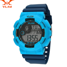 VILAM dz reloj hombres Deporte Al Aire Libre digital de reloj relojes digitales militar mens relojes de primeras marcas de lujo 2016 Banda De Goma correa