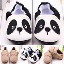2015 New Lovely Panda Soft Sole Baby Shoes First Walkers Ant