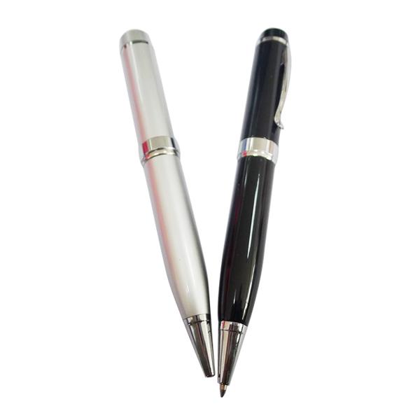 Regalo promocional del envío libre punto láser de metal estilo de la pluma 64 GB usb 2.0 tipo de interfaz usb pen