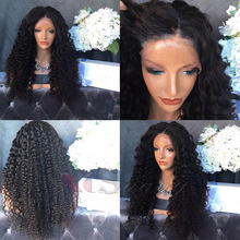 XCSUNNY Lace Front Human Hair Wigs Natural 180 Density Brazilian Kinky Curly Glueless Full Lace Human Hair Wigs For Black Women
