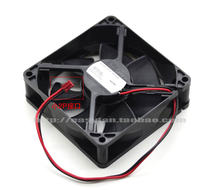 Nidec D08K-24TU 55 (AX) DC 24V 0.13A 2-wire 2-pin connector 80x80x25mm Server Square fan