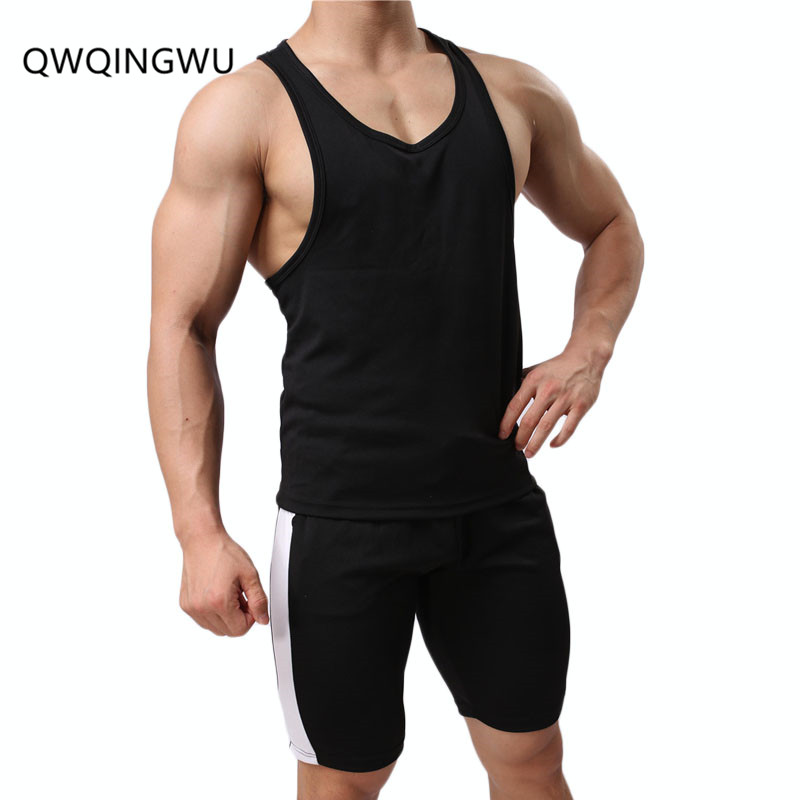 Men   Tank     Tops   and Pants Set Bodybuilding Fitness Stringer Elasticity Men   Tank     Top   Wear Vest Undershirt Casual Clothing   Tank     Tops