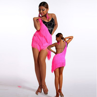 Upscale Latin Dance Competition Clothing Black Competition Clothing Professional Latin Dance Performance Apparel