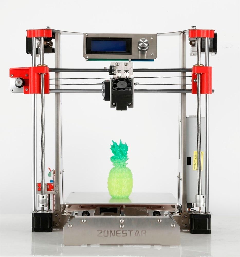 Offre Spéciale Double Extrudeuse Acier Inoxydable Cadre Open Source En Option Automatique Niveau Laser Gravure Pas Cher 3D Imprimante DIY Kit Bateau Libre