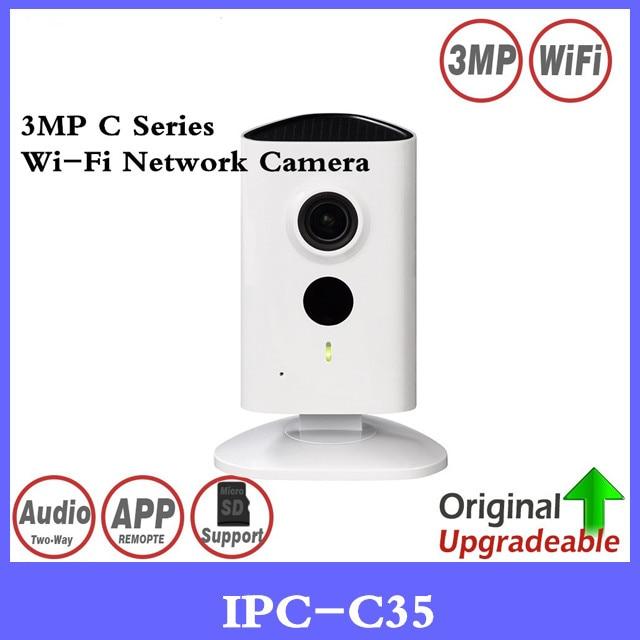 DH Original English IPC-C35 3MP C Series Wi-Fi Network Camera 120 degrees View angle Micro SD card local storage night vision цена
