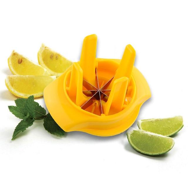 Fruit Lemon Lime Slicer Wedger Cutter Squeezer Fruit Drinking ...
