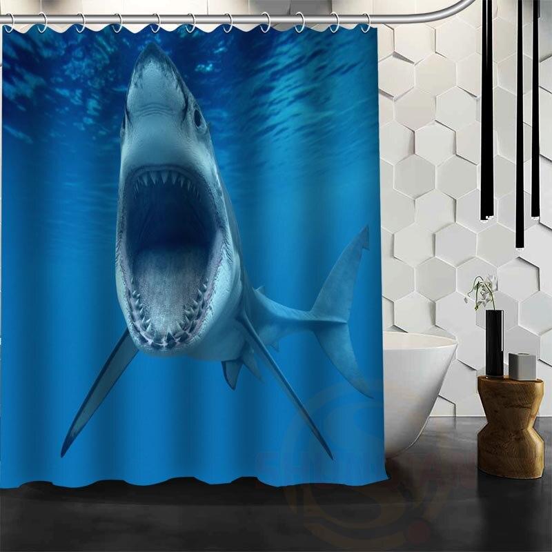 Aliexpress.com : Buy Best Nice Custom Shark Shower Curtain Bath Curtain  Waterproof Fabric Bathroom MORE SIZE WJYu002639 From Reliable Curtains  Waterproof ...