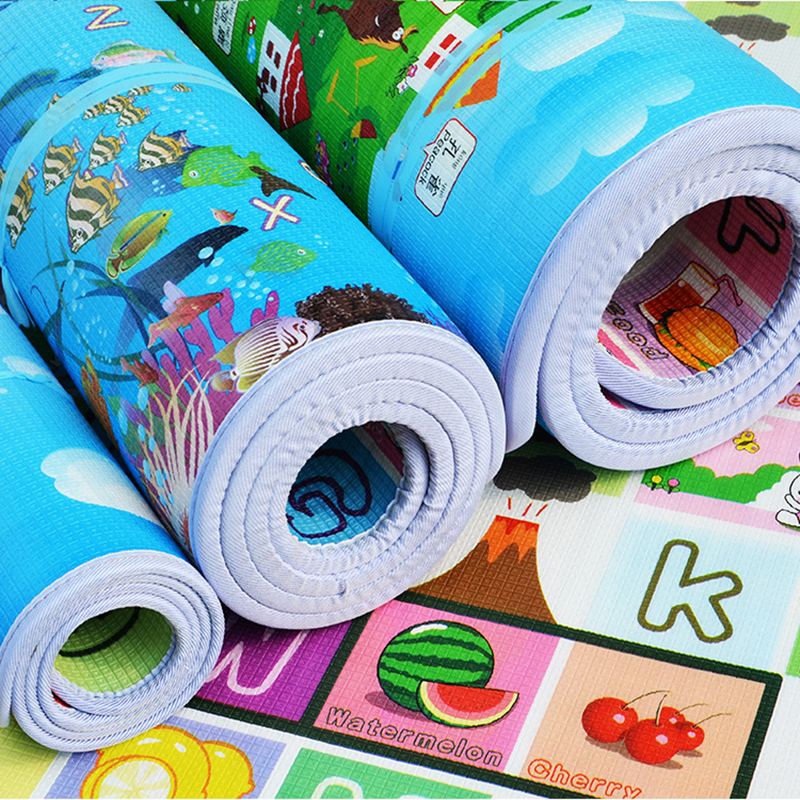 Infant Shining Children Crawling Puzzle Play Mat 200X180X2CM Baby Thickness Double-faced Foam Mat Climb Pad Carpet Free Shipping 1 4cm thick cartoon puzzle play mat 28pcs lot baby crawling rug climb pad children carpet eva foam kids game soft floor toy 450