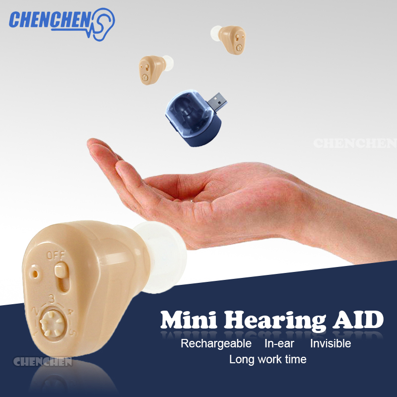 In-ear Mini Hearing AID Rechargeable Voice Sound Amplifier Convenient Portable Hearing AIDS for Hearing Loss Elderly Ear Care high grade ear aid hearing aid aids small and convenient hearing aids best sound voice amplifier zdb 100b free shipping