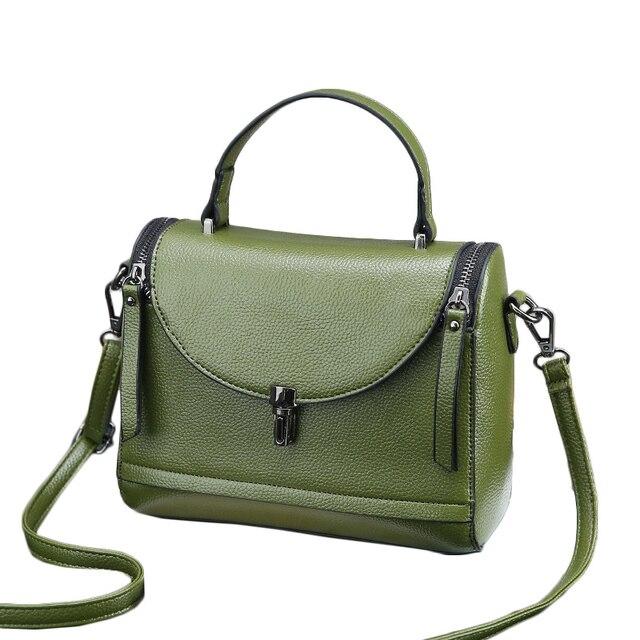 a576dfb6b8 2018 New High Quality Women Handbags Female Leather Shoulder Bags Fashion  Solid Brand Messenger Bags Tote Bolsas Feminina WH104