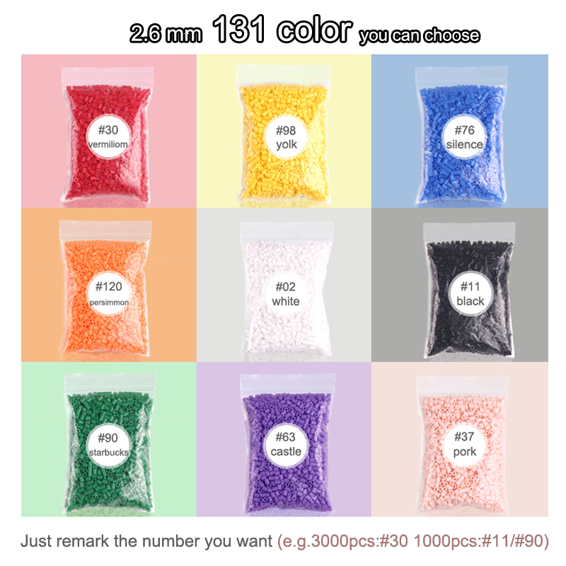 Image 3 - 225colours 2.6mm YANTJOUET 1000pcs Perler Beads Iron Beads for kids Hama Beads Fuse Beads Diy Puzzles Mini Beads quality Gift-in Puzzles from Toys & Hobbies