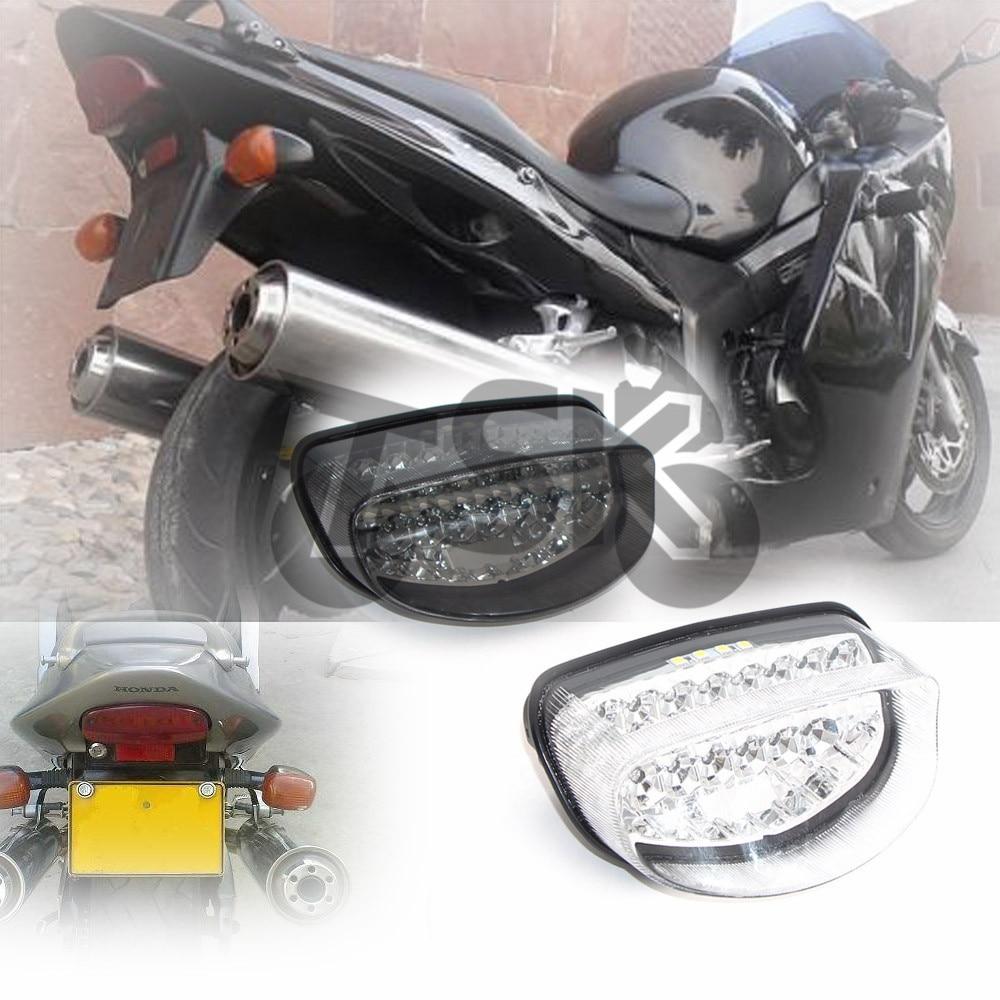For HONDA CBR1100XX HORNET 250 1997 1998 HORNET 600 1998-2003 Motorcycle LED Rear Turn Signal Tail Stop Light Lamps Integrated