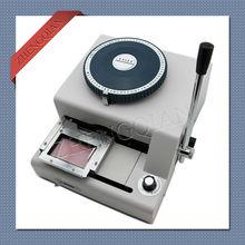 Manual press letterpress id pvc card embosser machine 72CE