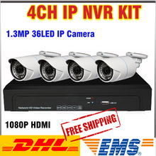 High Quality NVR IP Camera NVR Kit system 4CH 1080P H.264 Full HD CCTV NVR System VideoSurveilance Security CCTV 4 Channel Onvif