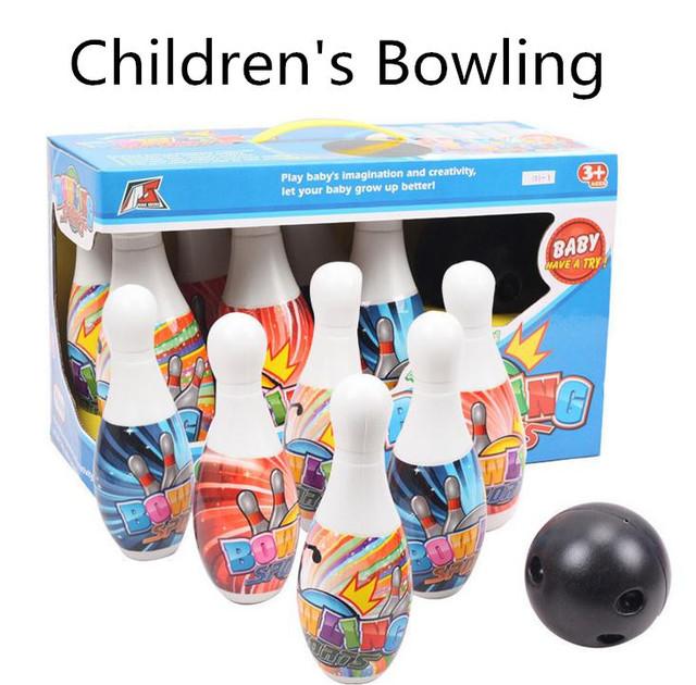 De plástico para niños de Bolos de color Lleno, juguetes educativos de paternidad de interior y al aire libre, envío gratis
