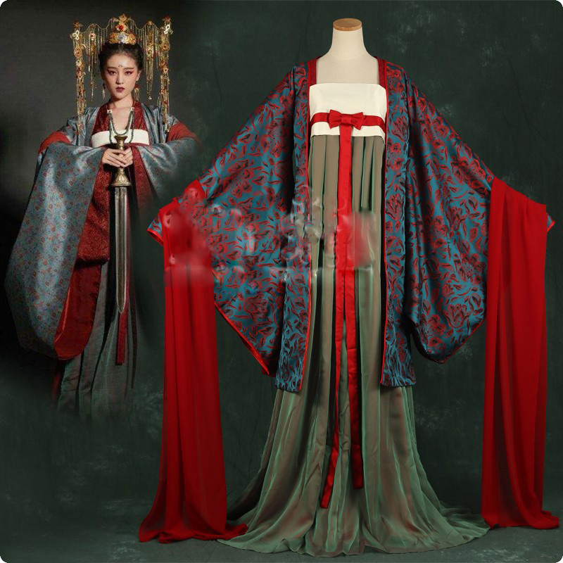 2 Designs Wide Sleeve Hanfu Costume For Women Traditional Chinese Style Costume For TV Play Soul Ferry LinHunBaiDu Huang Quan