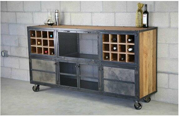 Amerikaanse retro hout om de oude smeedijzeren bar cafe for Bar de madera y fierro