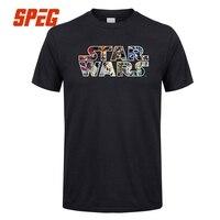 Casual T Shirts 3XL Star Wars Character Logo Male O Neck Short Sleeve T Shirt Cotton