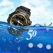 2019 Men's Outdoor Military Sports Double Show Couple Popular Multi-function LED Electronic Waterproof Watch Outdoor Essential все цены