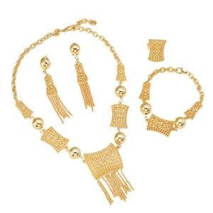 Image 5 - جديد وصول الأفريقية دبي الذهب العروس مجوهرات مجموعة 24 كيلو الذهب الاثيوبية الأوسط الفصح الهند كينيا المجوهرات مجموعة